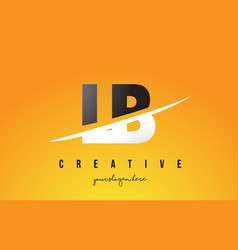 Lb l b letter modern logo design with yellow vector