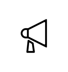 loudspeaker line icon black vector image