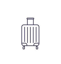 Luggage bag icon line vector
