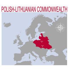 Map polish lithuanian commonwealth vector