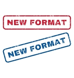New Format Rubber Stamps vector image