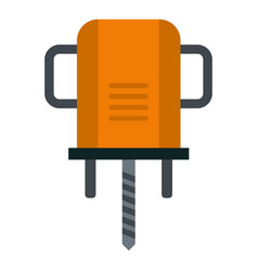 Orange boer drill icon isolated vector