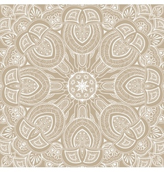 Ornamental round lace background vector