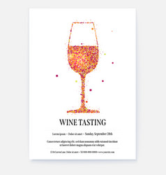 poster for wine tasting events with design text vector image