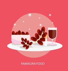 Ramadhan food conceptual design vector