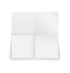 realistic template sheet folded of paper vector image