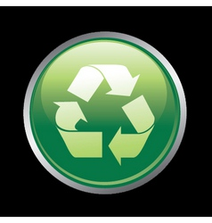 recycle button vector image vector image