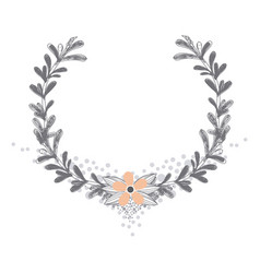 Rustic wreath hand drawn vector