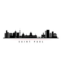 saint paul skyline horizontal banner vector image