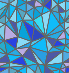 seamless blue polygon pattern vector image