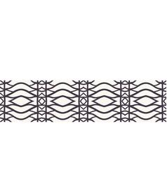 Seamless border pattern hand drawn woven vector