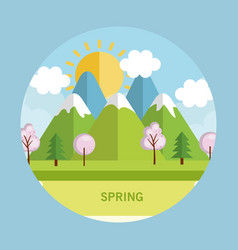 Seasonal weather landscape icon vector