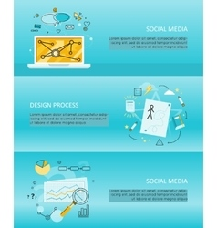 Set of Social Media Flyers vector image
