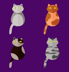 Set of stylized icons in form of cats vector