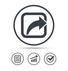 Share icon send social media information vector