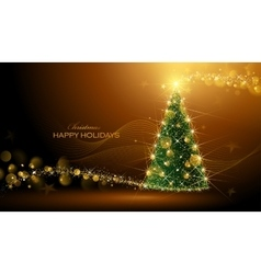 Shining Christmas tree vector image