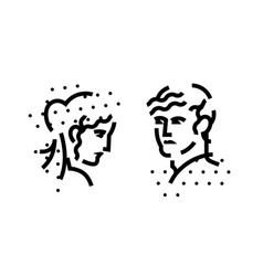 signs logo male and female heads a vector image