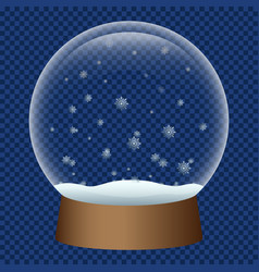 Snowglobe icon realistic style vector