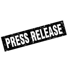 Square grunge black press release stamp vector