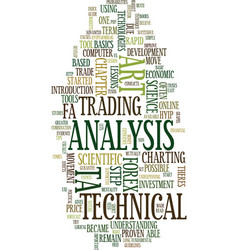 technical analysis an art or science text vector image