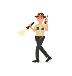 Town male sheriff police officer character in vector