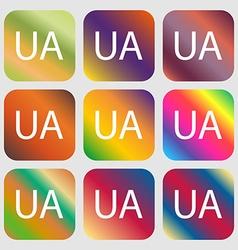 Ukraine sign icon symbol UA navigation Nine vector