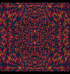 Vibrant colorful psychedelic trippy mandala vector