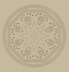 vintage style mandala vector image