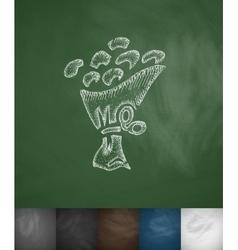 bouquet icon Hand drawn vector image vector image