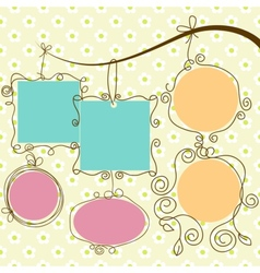 cute frames hanging vector image