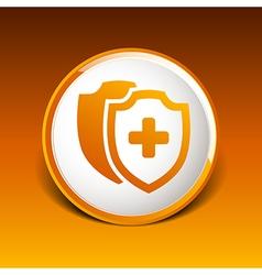 Medical Shield Icon shield flat health cross vector image vector image