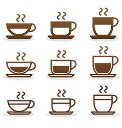 Set coffee cups vector image vector image