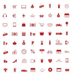 shopping icon set vector image