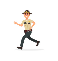 town male sheriff police officer character in vector image