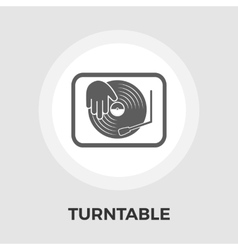 Turntable flat icon vector image vector image