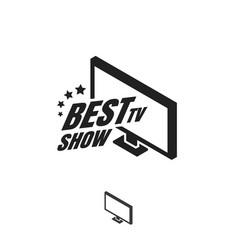 tv show logo vector image vector image