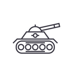 war tank line icon sign on vector image