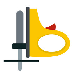 yellow cordless reciprocating saw icon isolated vector image vector image