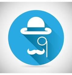 Gentleman Accessories Symbol Bowler Hat Monocle vector image vector image