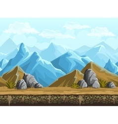 Seamless background of snowy mountains vector image
