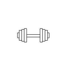 dumbbel line icon gym tool graphics vector image vector image