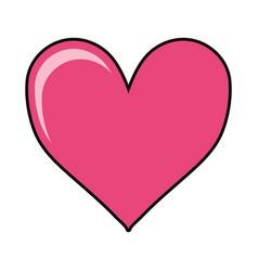 heart shape icon vector image vector image