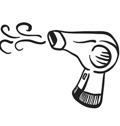 simple black and white hair dryer vector image