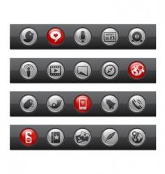 social media bars vector image vector image