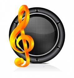 speaker sound background vector image vector image