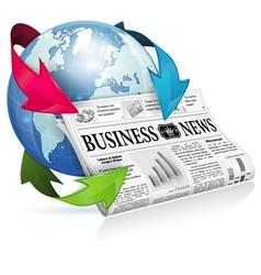 Concept - Internet News vector image vector image