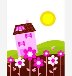fantasy country vector image vector image