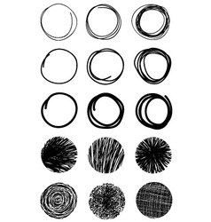 Hand Drawn Scribble Circles Design elements Eps 10 vector image