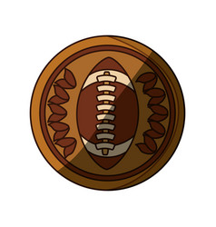 isolated american football emblem vector image