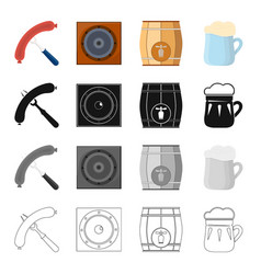 sausage on the fork musical speaker in the pub vector image